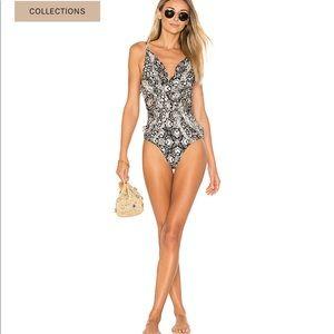Zimmermann black/white floral bathing suit.  Sz 6.
